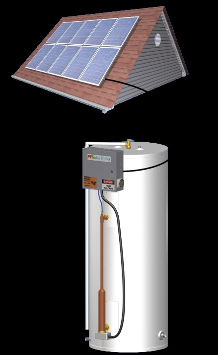 solar PV water heater